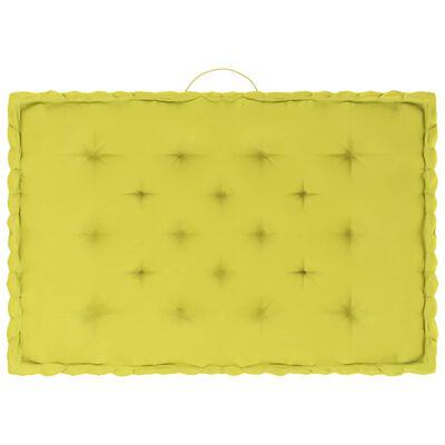 vidaXL Coussins de plancher de palette 4 pcs Vert pomme Coton