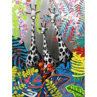 Peinture Sur Toile Girafe - Savane