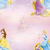 Kids at Home Papier peint Pretty as A Princess Rose et bleu