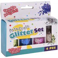 Art et Graft Glitter Set 4 couleurs
