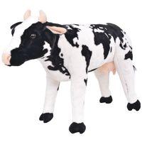 vidaXL Jouet en peluche Vache Noir et blanc XXL