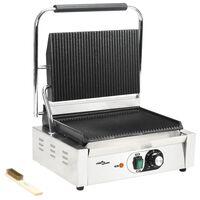 vidaXL Grill rainuré pour panini 2200 W 44 x 41 x 19 cm