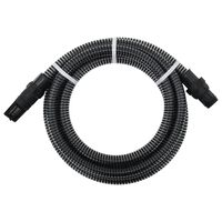 vidaXL Tuyau d'aspiration avec raccords en PVC 4 m 22 mm Noir