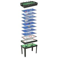 vidaXL Table de jeu multiple 15 en 1 121x61x82 cm Noir