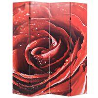 vidaXL Cloison de séparation pliable 160 x 170 cm Rose rouge