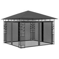 vidaXL Belvédère avec moustiquaire 3x3x2,73 m Anthracite 180 g/m²