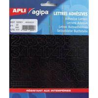 Chiffres et symboles Autocollant 20 x 18 mm Noir - APLI AGIPA