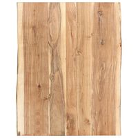 vidaXL Dessus de table Bois d'acacia massif 80x(50-60)x3,8 cm
