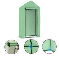 vidaXL Serre avec cadre en acier 0,5 m² 1x0,5x1,9 m