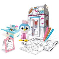 Fuzzikins Kit de bricolage et de jeu Fuzzi Street Ice Cream Parlour