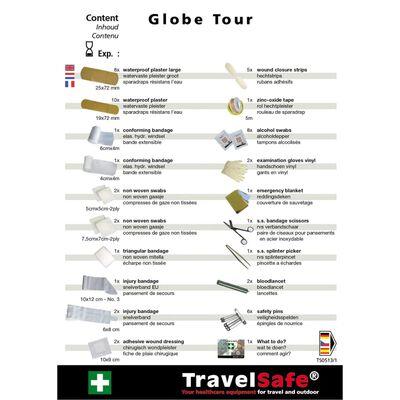 Travelsafe Trousse de premiers soins 57 pcs Globe Tour Rouge