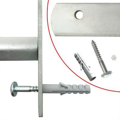 vidaXL Grille réglable de sécurité de fenêtres et 4 barres 500-650 mm