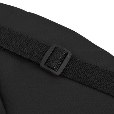 vidaXL Chaises de sol pliables 2 pcs Noir Acier et tissu
