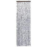 vidaXL Moustiquaire Marron et beige 56x200 cm Chenille