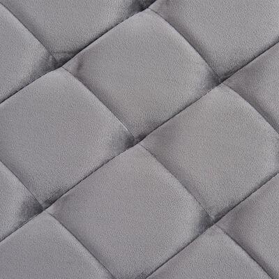 vidaXL Banc 97 cm Gris Tissu de velours et acier inoxydable