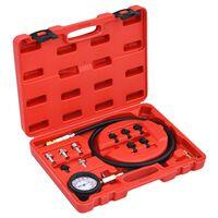 vidaXL Kit de testeur pour jauge de pression d'huile 12 pcs