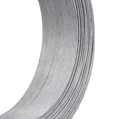 vidaXL Fil de liaison de clôture 250 m 1,4 mm Acier