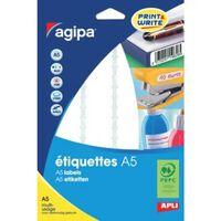 Etiquettes blanches 16 feuilles A5 56 x 34 mm 192 pièces - APLI AGIPA