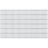 vidaXL Panneaux de clôture de jardin 2D 2,008x1,23 m 10 m total Gris
