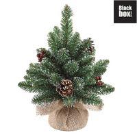 Black Box Trees - Derby sapin d.noel  a. toile de jute vert -