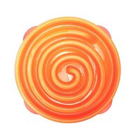 Outward Hound Mangeoire lente pour chiens Slo Bowl Corail Orange 1577