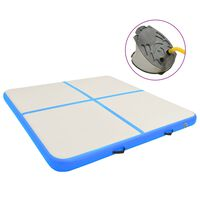 vidaXL Tapis gonflable de gymnastique avec pompe 200x200x20cm PVC Bleu