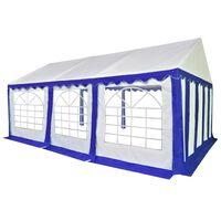 vidaXL Chapiteau de jardin PVC 4 x 6 m Bleu et blanc