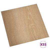 vidaXL Planches de plancher autoadhésives 55 pcs PVC 5,11 m² Marron