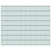 vidaXL Panneaux de clôture de jardin 2D 2,008x1,63 m 34 m total Vert