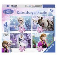Ravensburger Puzzle congelés 12 + 16 + 20 + 24 Bits