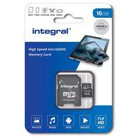 Carte micro SDHC INTEGRAL INMSDH 16 G-100 V 10