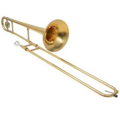vidaXL Trombone Laiton Jaune avec laque dorée Bb