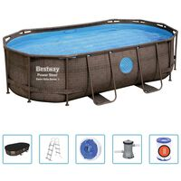 Bestway Ensemble de piscine Power Steel 427x250x100 cm