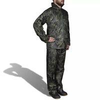 vidaXL Combinaison de pluie avec capuche 2 pcs Hommes Camouflage XXL