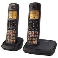 Fysic Téléphone DECT FX-5520 double Noir