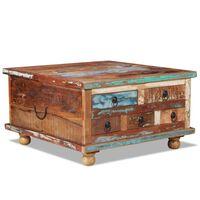 vidaXL Table basse Bois de récupération 70 x 70 x 38 cm