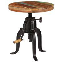 vidaXL Table d'appoint 45x (45-62) cm Bois de récupération et fonte