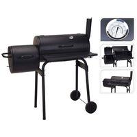 ProGarden Barbecue fumoir Noir