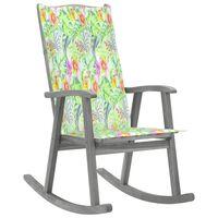 vidaXL Chaise à bascule avec coussin Gris Bois d'acacia massif