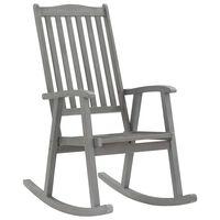 vidaXL Chaise à bascule Gris Bois d'acacia massif