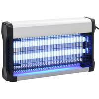 vidaXL Lampe anti-insectes Noir Aluminium ABS 30 W