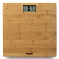 Tristar Pèse-personne de salle de bain 180 kg Bambou