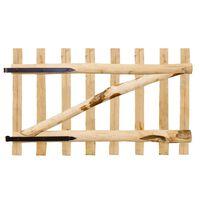 vidaXL Portillon simple de clôture Bois de noisetier 100 x 60 cm