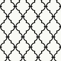 RoomMates Papier pelable et collant Treillis Blanc RMK9018WP