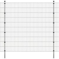 vidaXL Panneaux et poteaux de clôture 2D pour jardin 2008x2030 mm 20 m