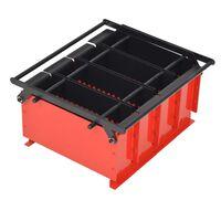 vidaXL Presse à papier de recyclage Acier 38 x 31 x 18 cm Noir et rouge