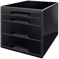 Leitz Cube de bureau 4 tiroirs Noir