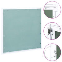 vidaXL Panneau d'accès Cadre en aluminium plaque de plâtre 600x600 mm