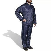 Combinaison de pluie avec capuche 2 pièces Bleu marine L