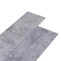 vidaXL Planches de plancher PVC 5,26 m² 2 mm Gris ciment